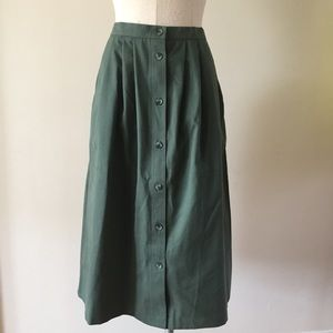 Vintage Button Up Skirt